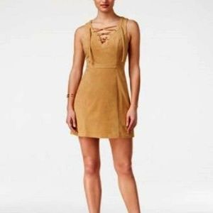 GUESS Suede Lace Up Dress Sleeveless
